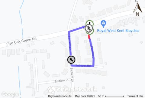 map of footpath closure